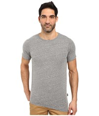 Rustic Dime Asymmetrical Long Tee Heather Grey Men's T Shirt Gray