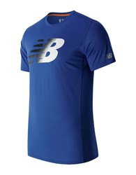 New Balance Accelerate Short Sleeve Graphic Tee Blue