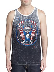 Affliction Turbo Reversible Graphic Tank Black White