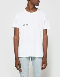 Quality Peoples Love Amor Crew T Shirt White