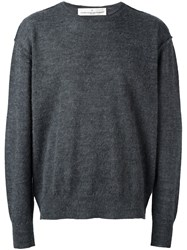 Golden Goose Deluxe Brand Crew Neck Jumper Grey