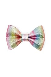 Forever 21 Glitter Rainbow Bow Clip Pink Multi