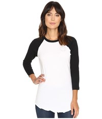 Converse Embroidered Left Chest Core Patch Raglan Tee White Women's T Shirt