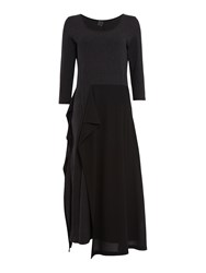 Crea Concept Long Dress With Frill Charcoal