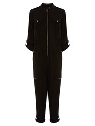 Karen Millen Safari Jumpsuit Black