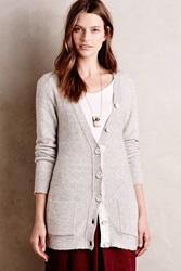 Moth Laced Boucle Cardigan Silver