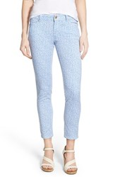 Women's Michael Michael Kors 'Izzy' Print Crop Skinny Jeans Crew Blue Whte