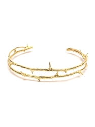 Wouters And Hendrix Gold 'Thorn' Bracelet Metallic