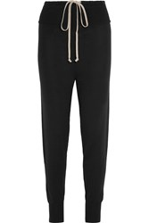 Rick Owens Wool Track Pants Black