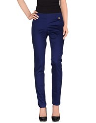Frankie Morello Trousers Casual Trousers Women Blue