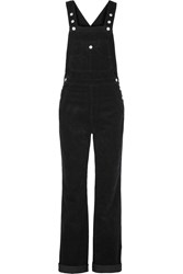 Ag Jeans Alexa Chung The Bunny Cotton Corduroy Overalls Black