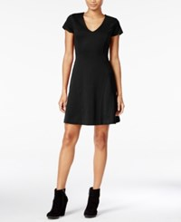 Maison Jules Short Sleeve Fit And Flare Dress Only At Macy's Deep Black