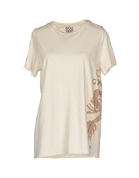 Douuod Short Sleeve T Shirts Ivory