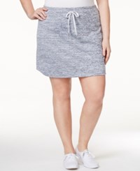 Styleandco. Style And Co. Plus Size Melange Skort Only At Macy's Silver Combo