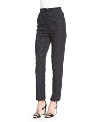 Dolce And Gabbana Straight Leg Brocade Trousers Black