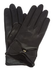 Ted Baker Lynna Large Bow Leather Glove Black