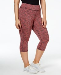 Ideology Plus Size Spaced Dyed Cropped Leggings Only At Macy's Ticking Stripe