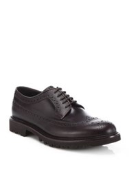 Giorgio Armani Wingtip Lace Up Derby Shoes Black