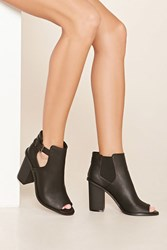 Forever 21 Buckle Cutout Booties