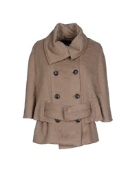 Byblos Coats And Jackets Coats Women Khaki
