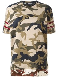 Dsquared2 Camouflage Stripe Accent T Shirt Green