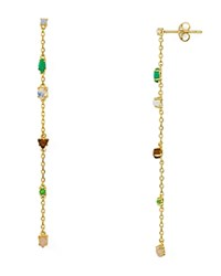 Jules Smith Designs Staz Mixed Cabochon Drop Earrings Gold