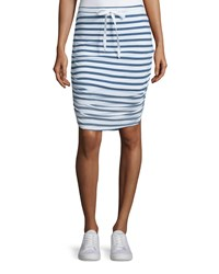 Splendid Sunfaded Striped Pencil Skirt Navy Women's Pink Multi