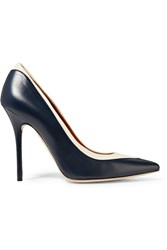 Malone Souliers Emmanuelle Leather Pumps Blue