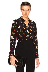 Alexander Mcqueen Button Up Blouse In Black