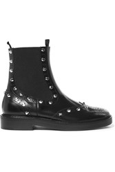Balenciaga Studded Leather Chelsea Boots Black