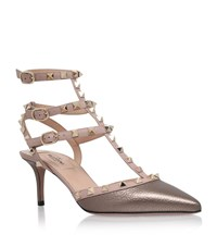 Valentino Rockstud Sling Back Metallic Pump Female Bronze