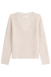 Helmut Lang Wool Pullover With Cashmere Beige