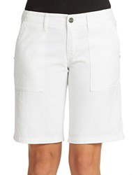 Sanctuary Cotton Bermuda Shorts White