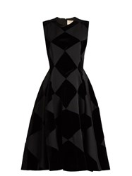 Roksanda Ilincic Avildsen Diamond Check Dress Black