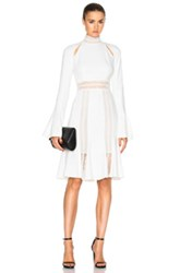Jonathan Simkhai Mini Flare Dress In White