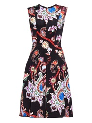 Mary Katrantzou Masson Urdu Paisley Print Silk Dress
