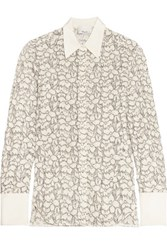 3.1 Phillip Lim Silk Trimmed Lace Shirt Ivory