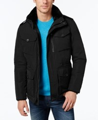 Calvin Klein Men's Jacket With Faux Fur Collar Black