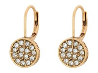 The Sak Pave Circle Drop Earrings Gold Earring