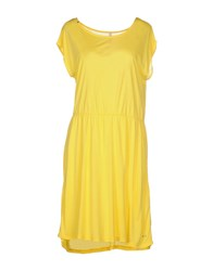 Sun 68 Dresses Knee Length Dresses Women Yellow