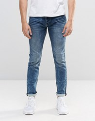 Only And Sons Slim Jog Jeans In Light Blue Wash Acid Blue