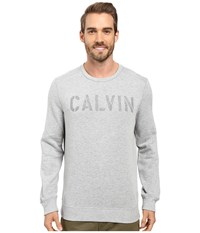 Calvin Klein Jeans Needle Punch Crew Medium Charcoal Heather Men's Clothing Black