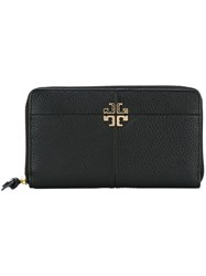 Tory Burch 'Ivy' Zip Continental Wallet Black
