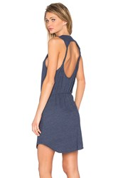 Chaser Twisted Back Cut Out Mini Dress Blue