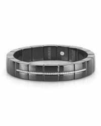 Roberto Demeglio Domino Black Ceramic And 18K White Gold Bracelet With Diamonds 0.31 Tdcw