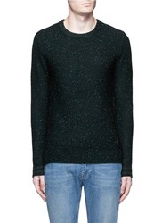 Scotch And Soda Slub Wool Cotton Blend Sweater Green