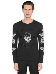 Alexander Mcqueen Butterfly And Skull Long Sleeve T Shirt