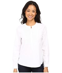Nydj Petite Crisp White Tunic Blouse Optic White Women's Blouse