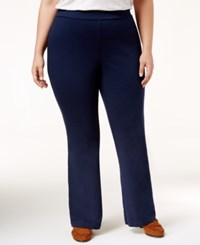 Charter Club Plus Size Pull On Bootcut Pants Only At Macy's Intrepid Blue