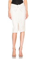Jenni Kayne Diamond Lace Wrap Skirt In Neutrals White